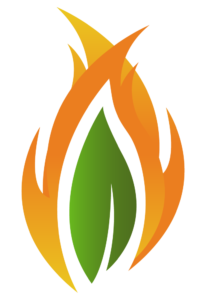 Indiana Perscribed Fire CouncilL Leaf Flame Graphic Logo